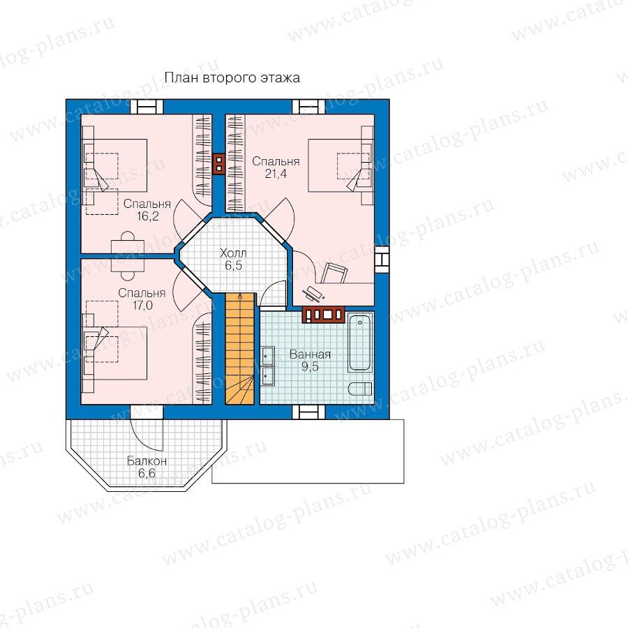 План 2-этажа проекта 62-18