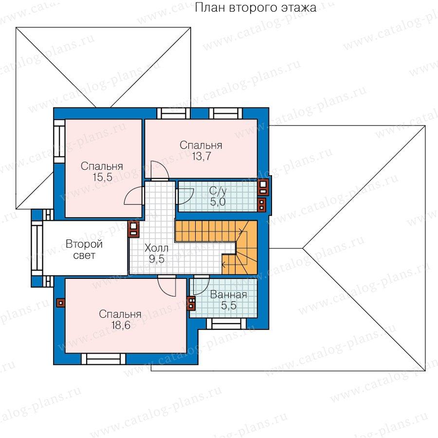 План 2-этажа проекта 45-16