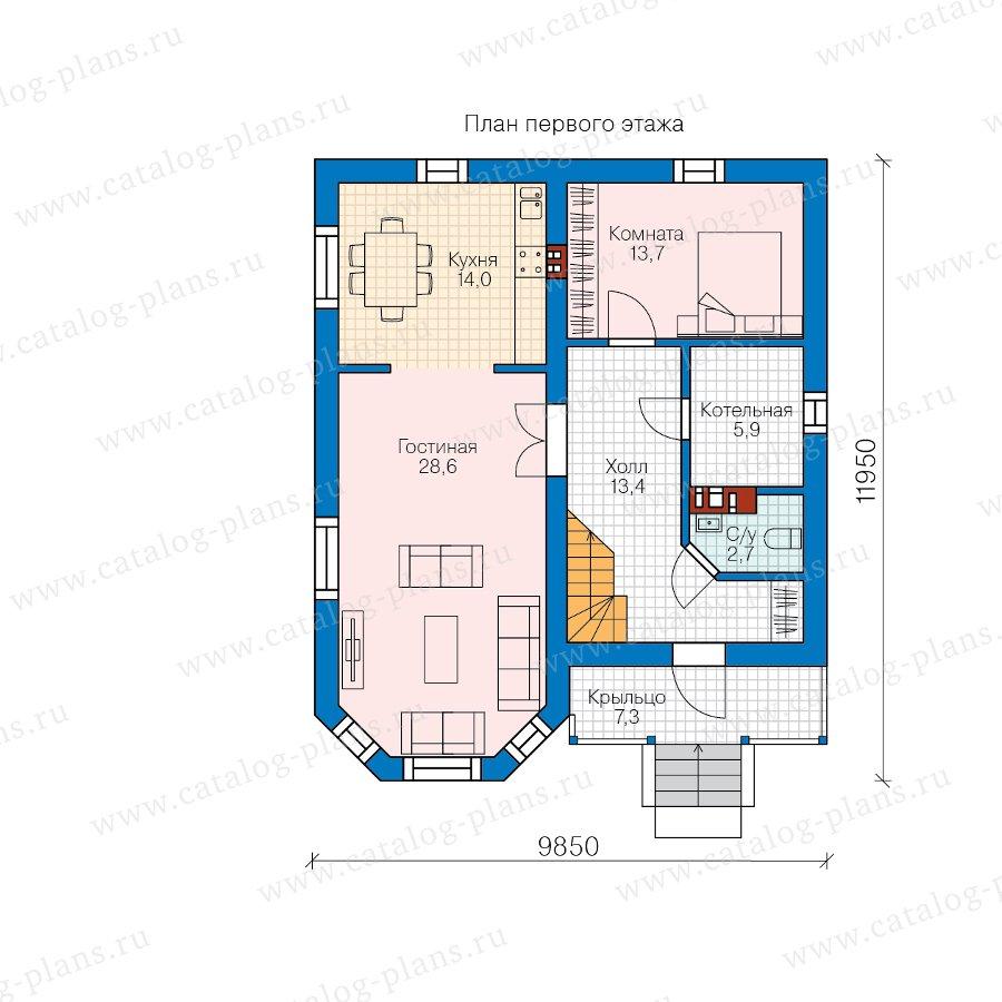 План 1-этажа проекта 62-18