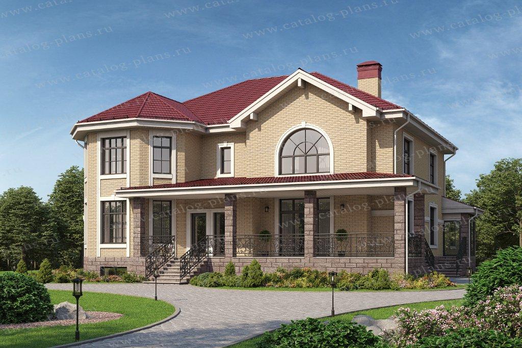 Проект жилой дом #40-53AL материал - газобетон , стиль классический