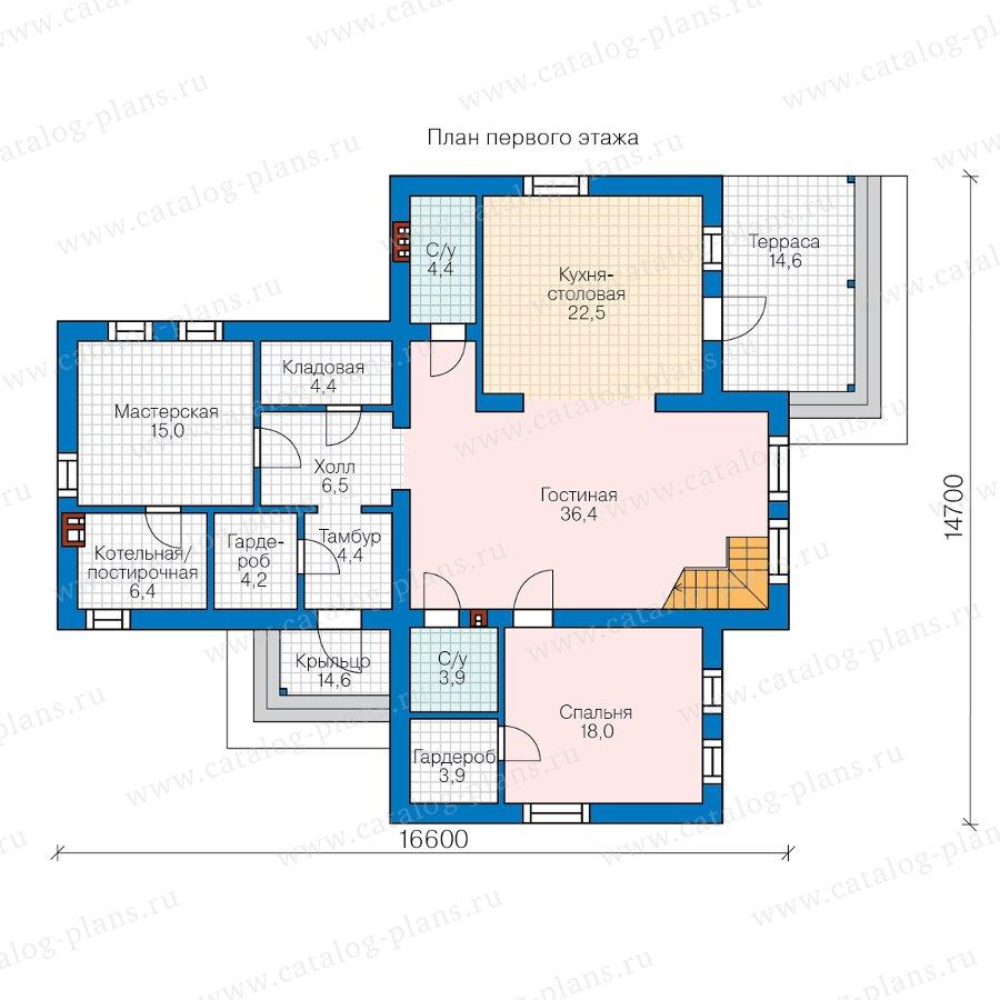 План 1-этажа проекта 62-29