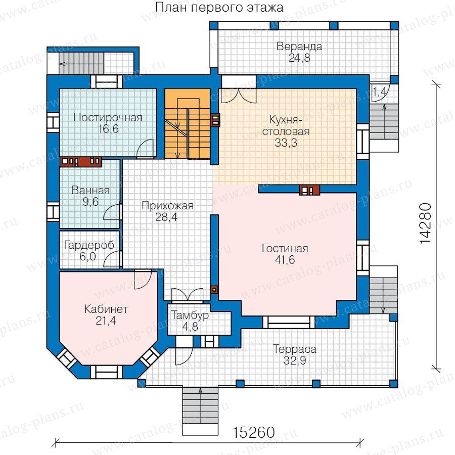 План 2-этажа проекта 40-53AL