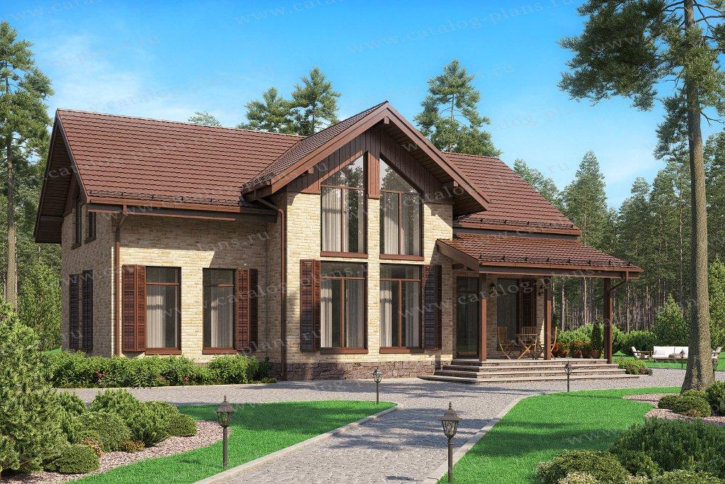 Проект жилой дом #62-29 материал - газобетон, стиль