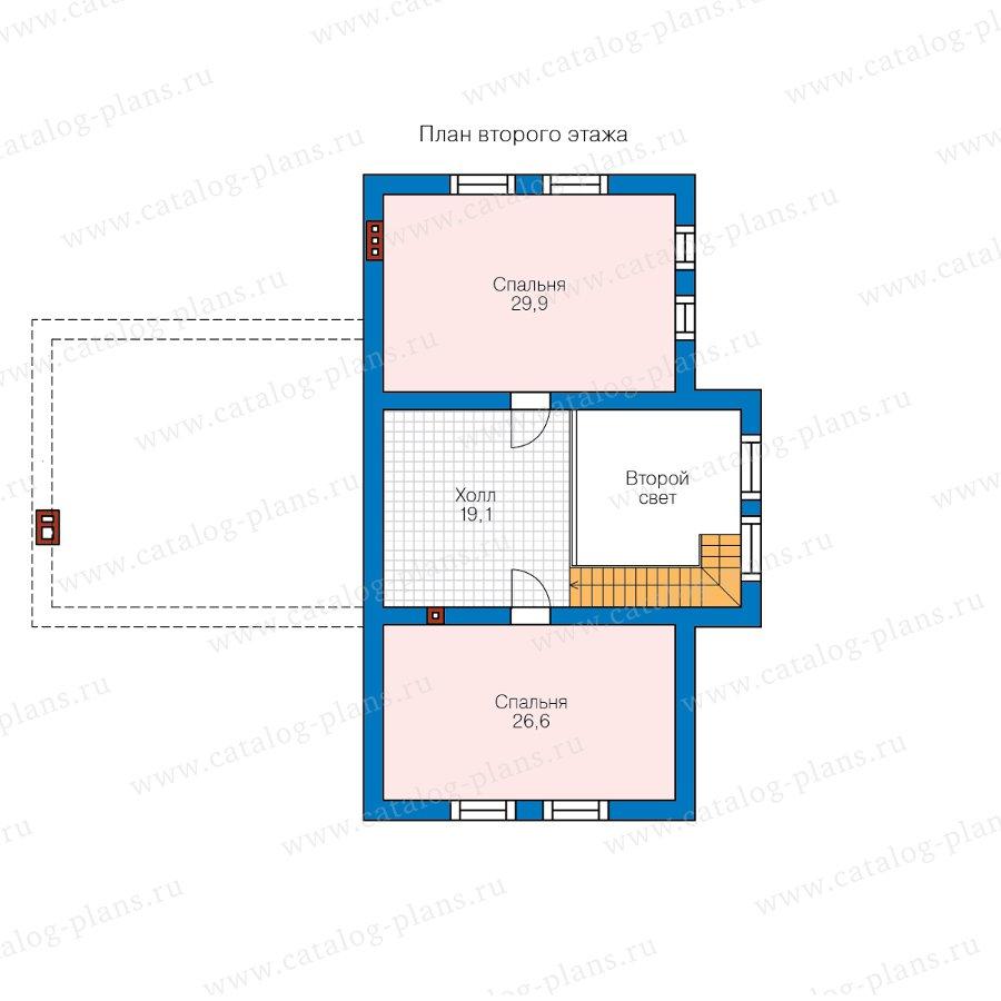 План 2-этажа проекта 62-29