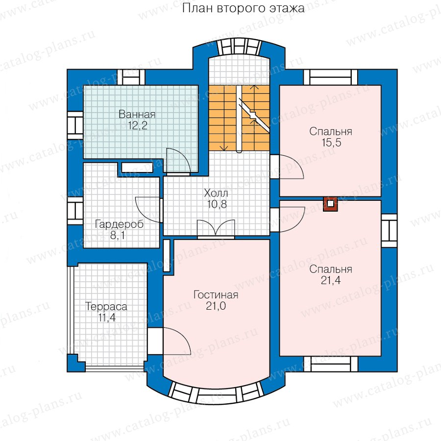План 3-этажа проекта 47-84