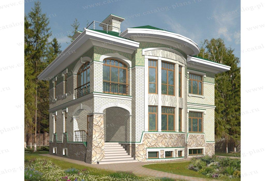 Проект жилой дом #47-84 материал - кирпич, стиль