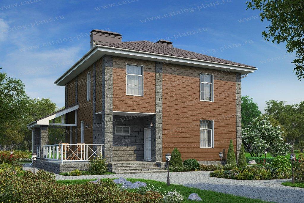 Проект жилой дом #57-02 материал - газобетон, стиль современный