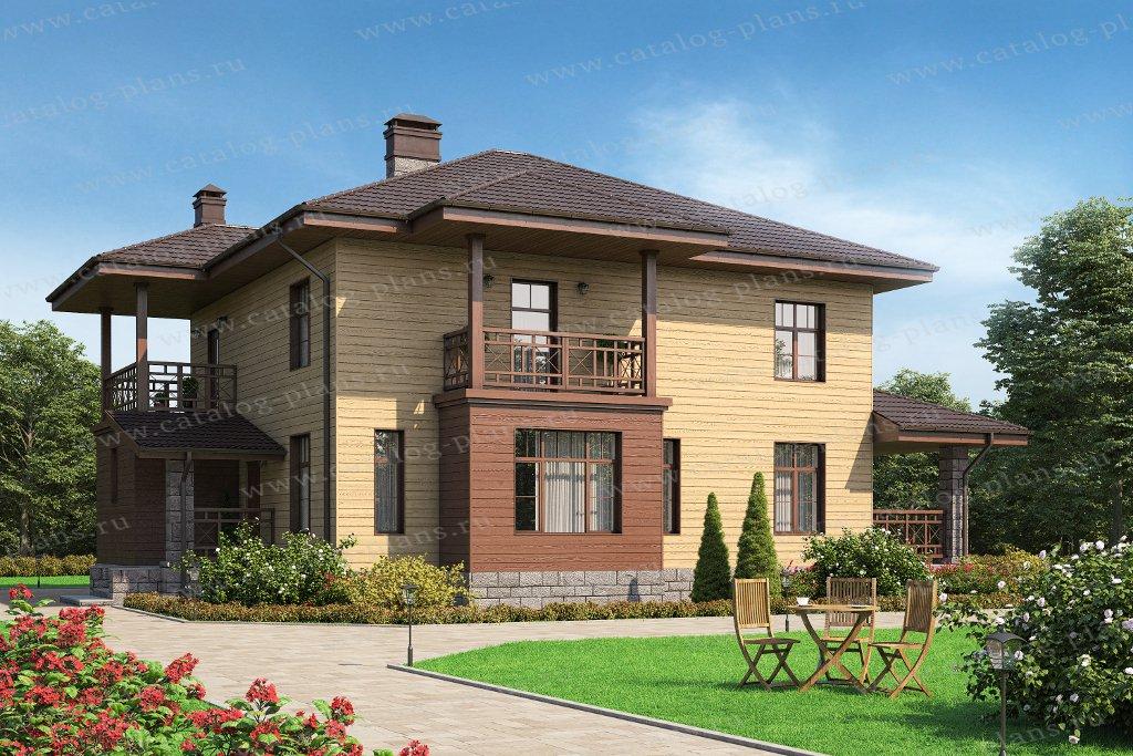 Проект жилой дом #57-46АКедрал материал - газобетон, стиль современный