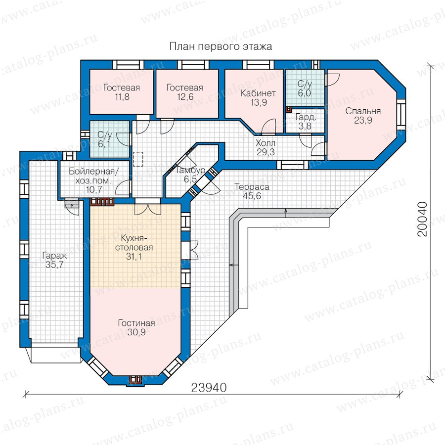 План 2-этажа проекта 58-50AL