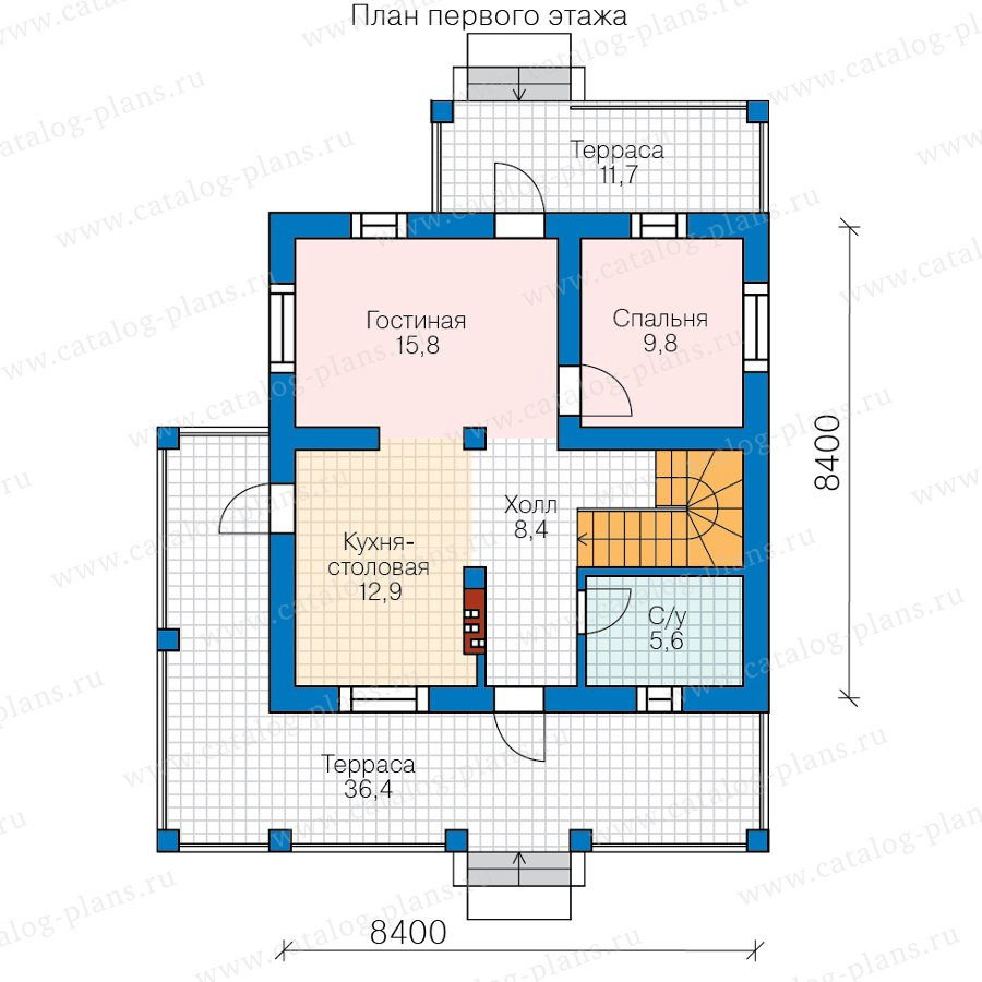 План 1-этажа проекта 57-51A