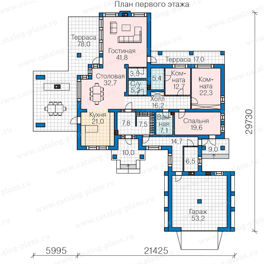 План 1-этажа проекта 45-18