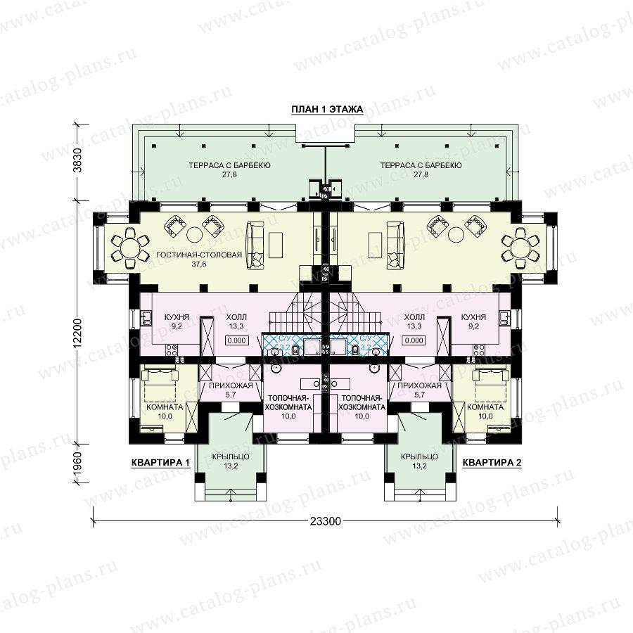 План 1-этажа проекта 61-21