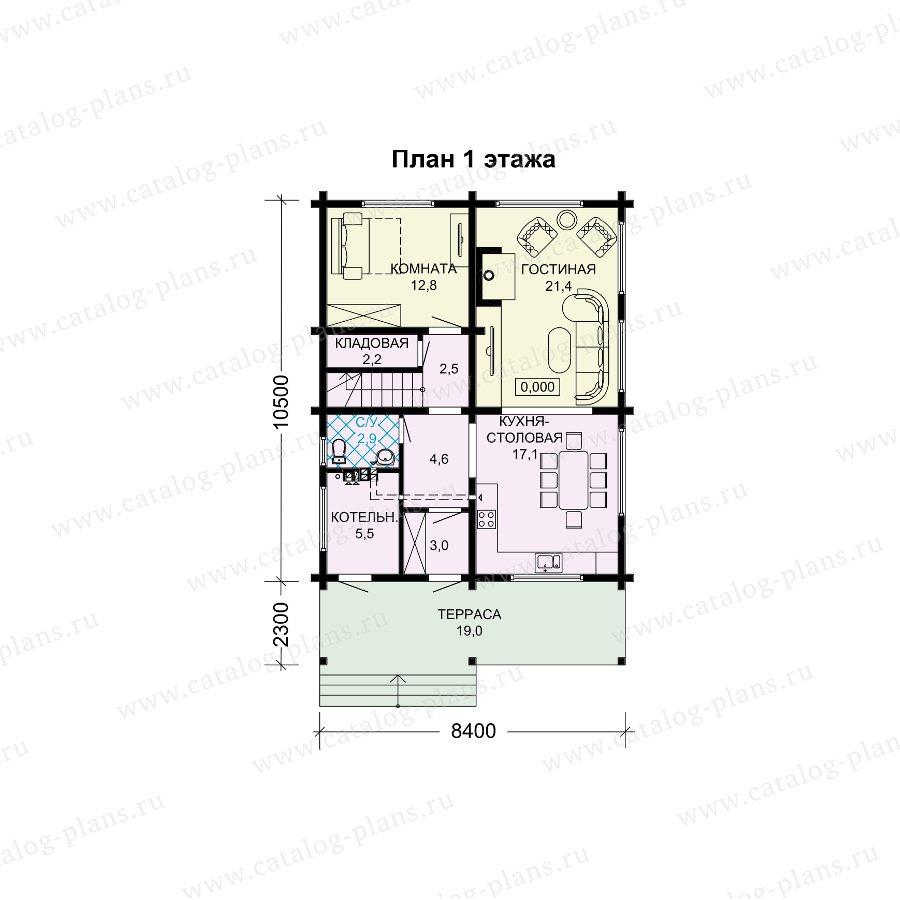 План 1-этажа проекта 13-85