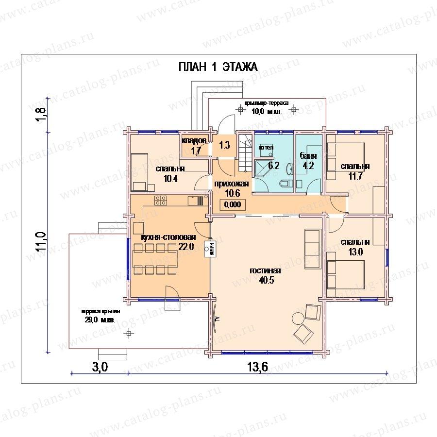 План 1-этажа проекта 13-84
