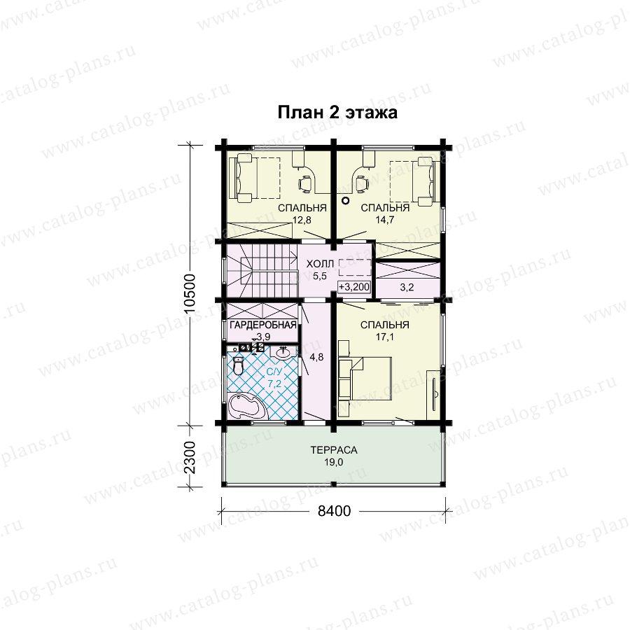 План 2-этажа проекта 13-85