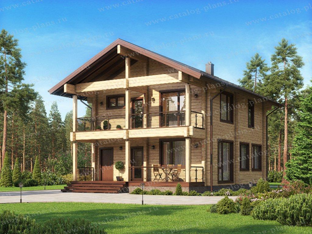 Проект жилой дом #13-85 материал - дерево, стиль