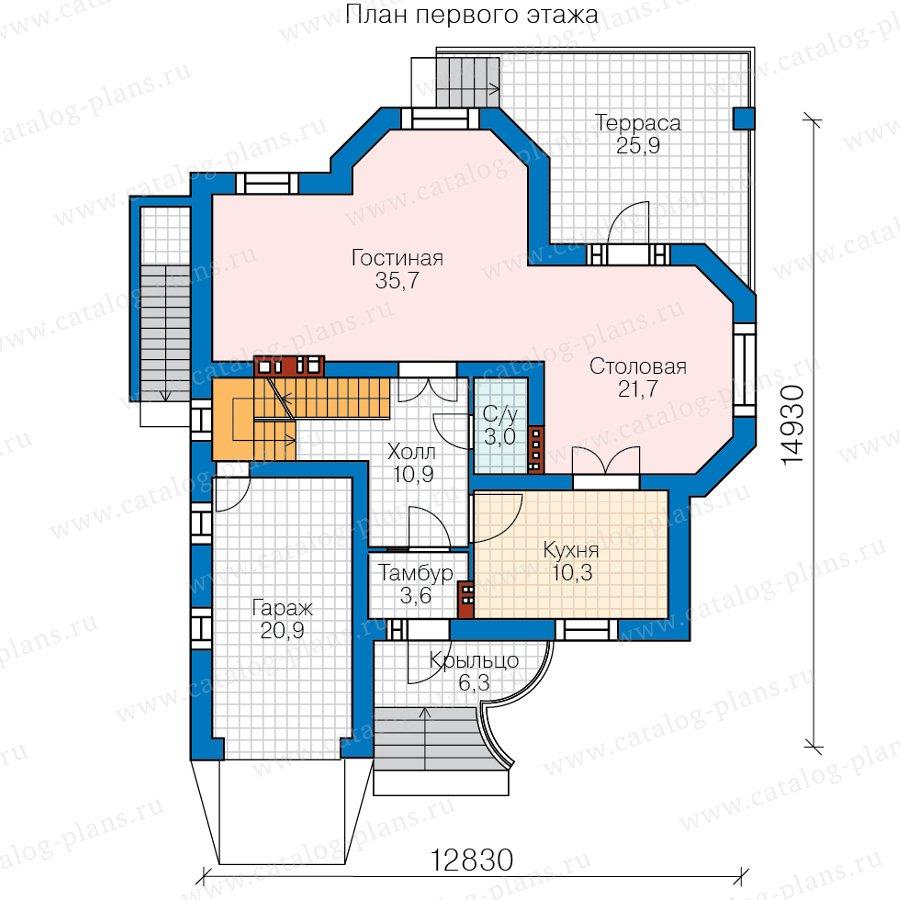 План 2-этажа проекта 45-12