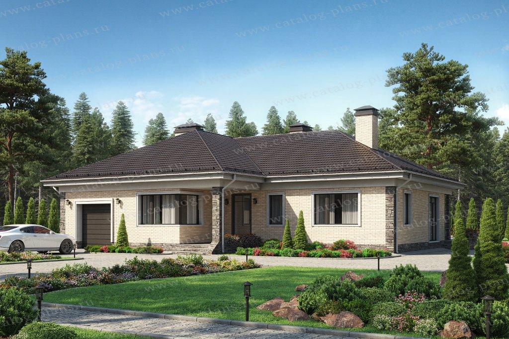 Проект жилой дом #62-30L материал - газобетон, стиль