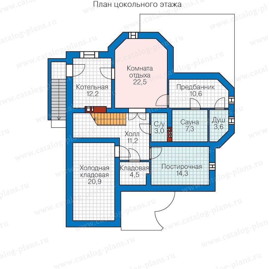План 1-этажа проекта 45-12