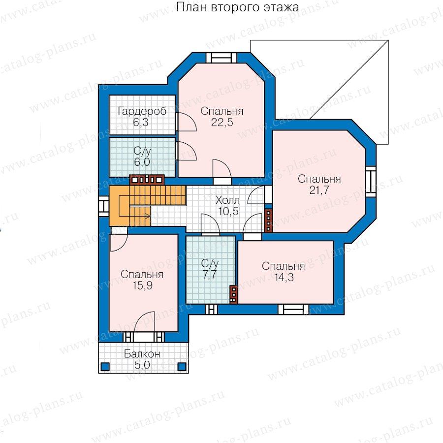 План 3-этажа проекта 45-12
