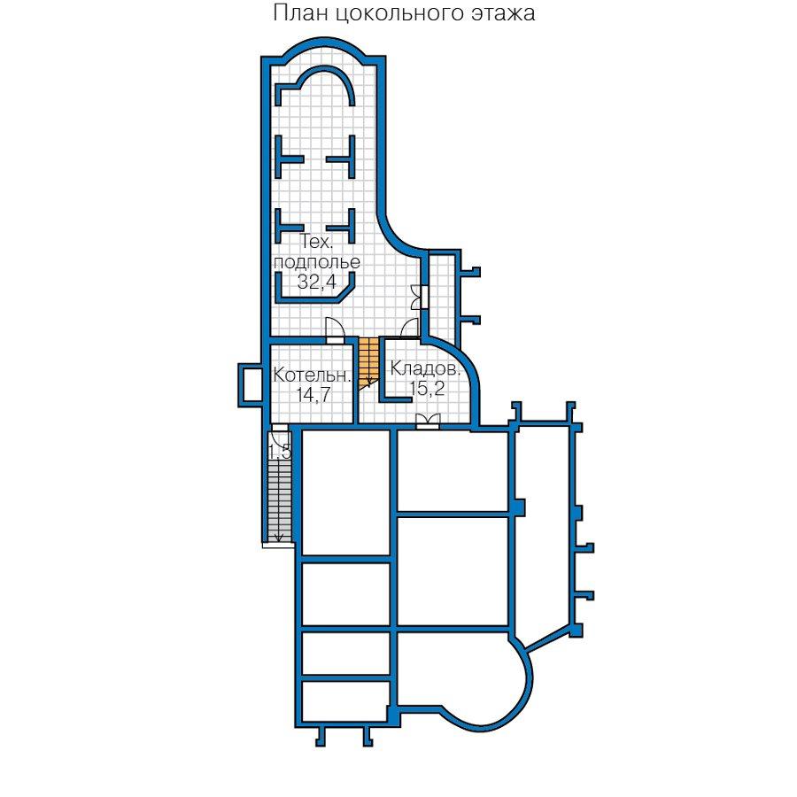 План 1-этажа проекта 47-82