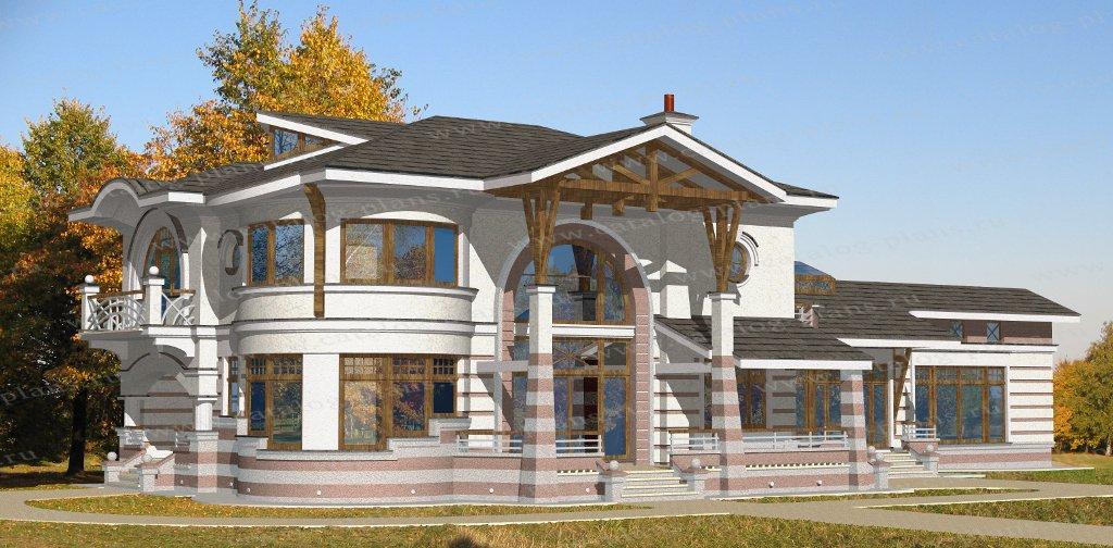 Проект жилой дом #47-82 материал - кирпич, стиль