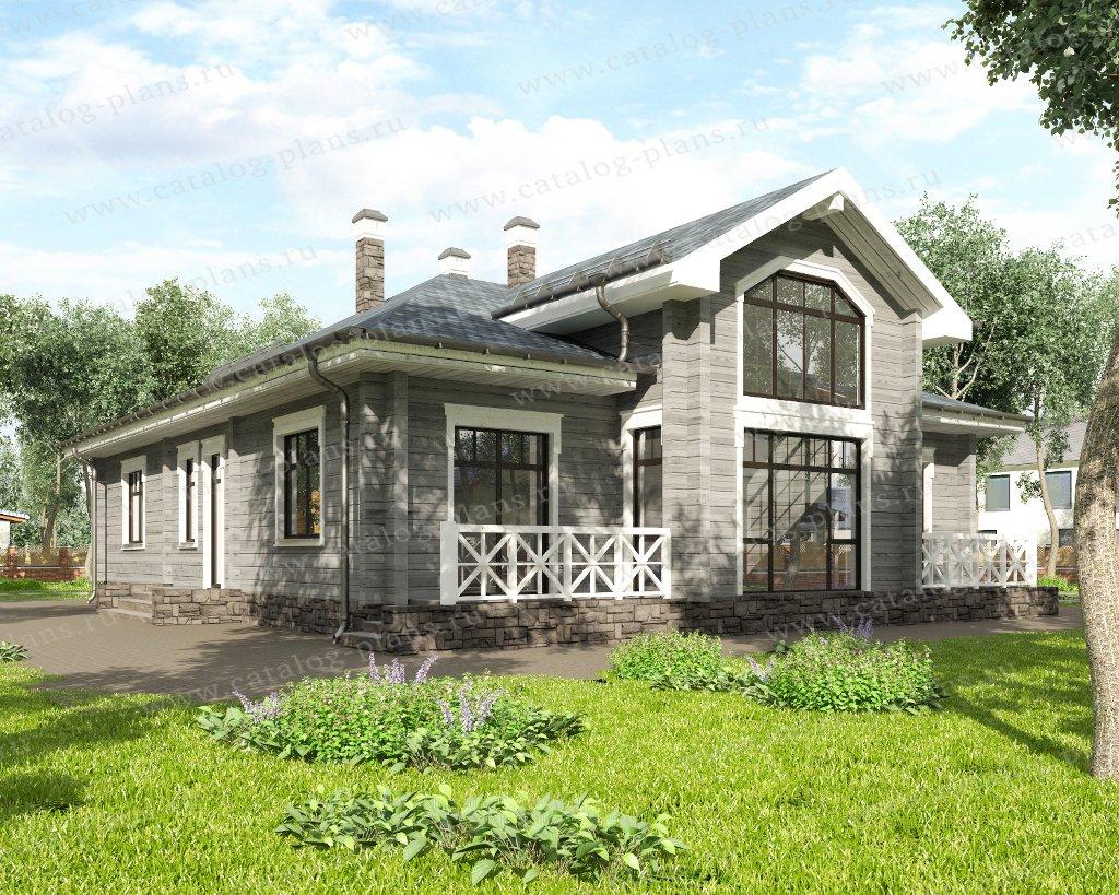 Проект жилой дом #13-86 материал - дерево, стиль