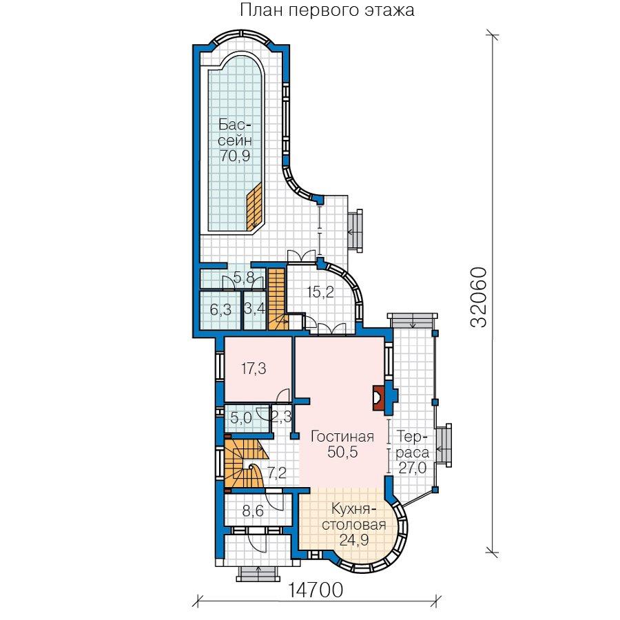 План 2-этажа проекта 47-82