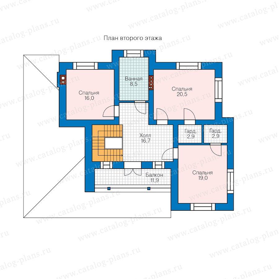 План 2-этажа проекта 58-10H2L