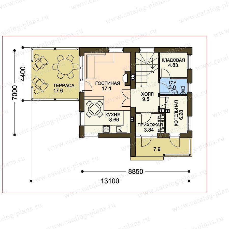План 1-этажа проекта 61-23