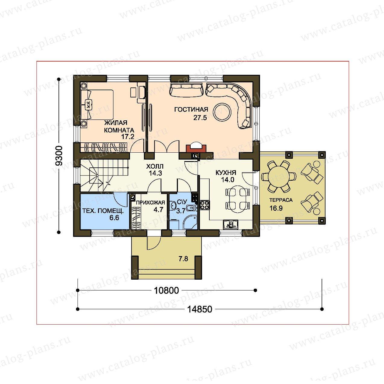План 1-этажа проекта 61-22A