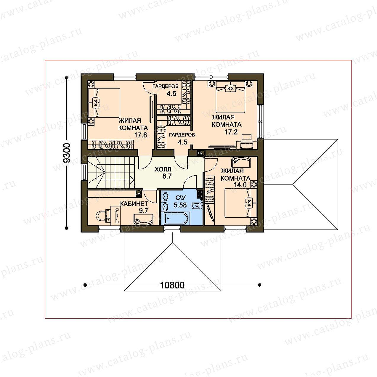 План 2-этажа проекта 61-22A