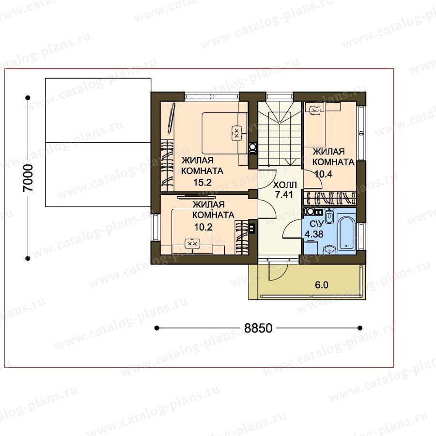 План 2-этажа проекта 61-23