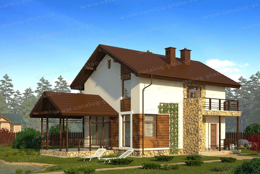Проект жилой дом #61-23 материал - газобетон, стиль