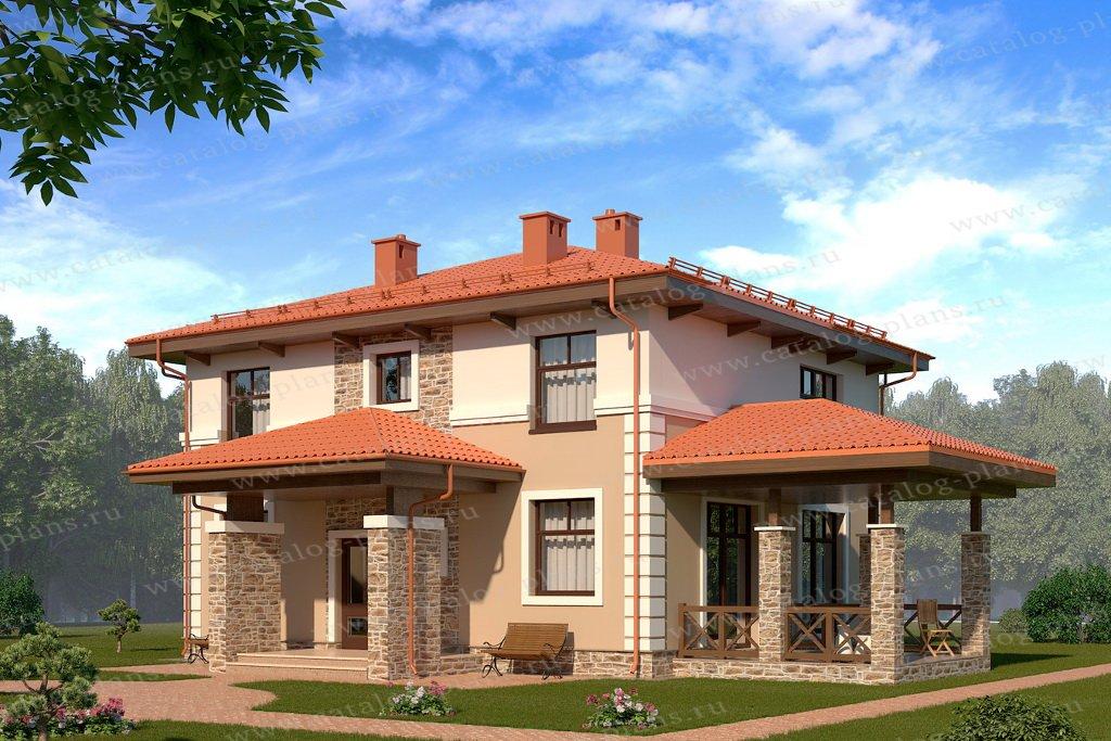 Проект жилой дом #61-22A материал - газобетон, стиль