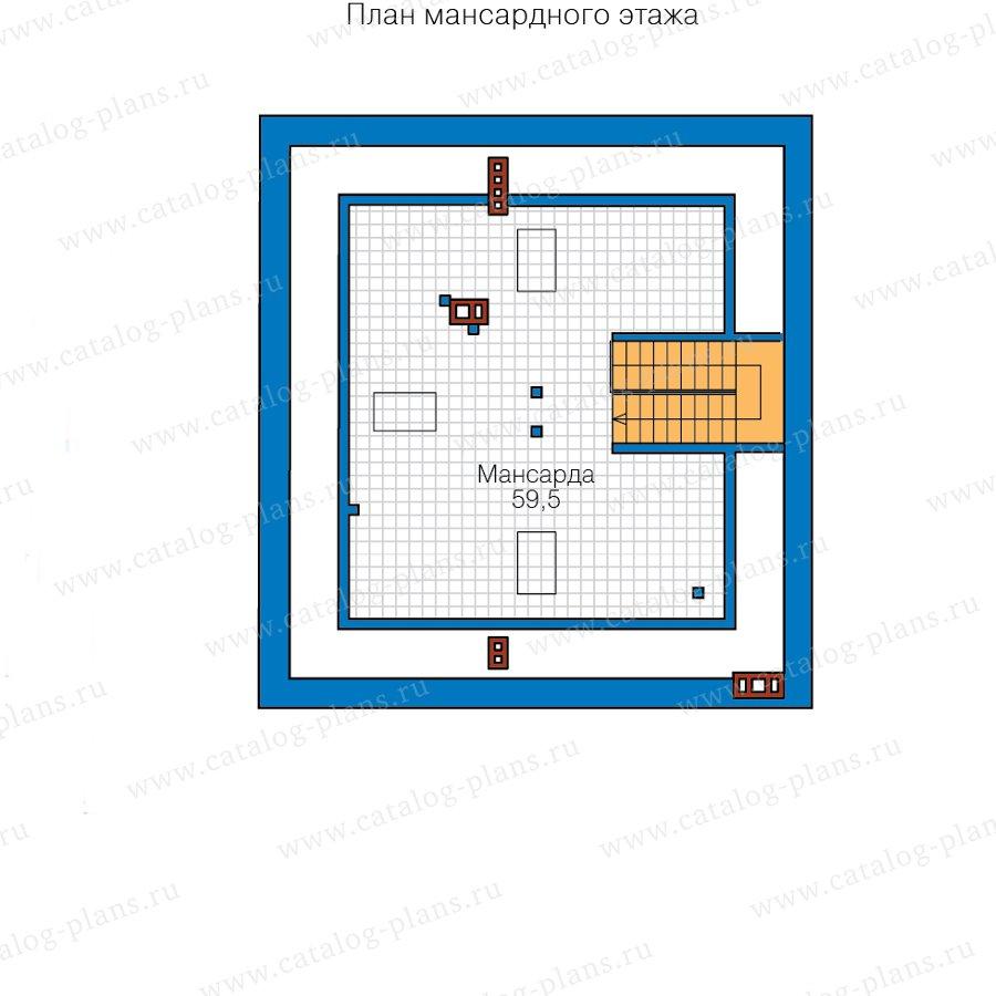 План 3-этажа проекта 57-46BL