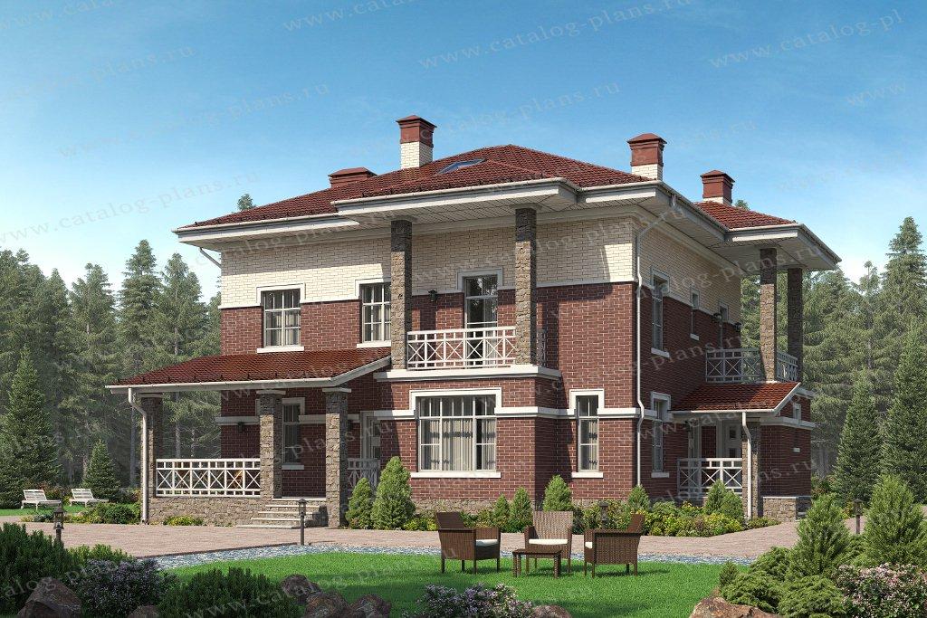 Проект жилой дом #57-46BL материал - газобетон, стиль