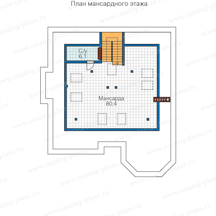 План 3-этажа проекта 48-31AL