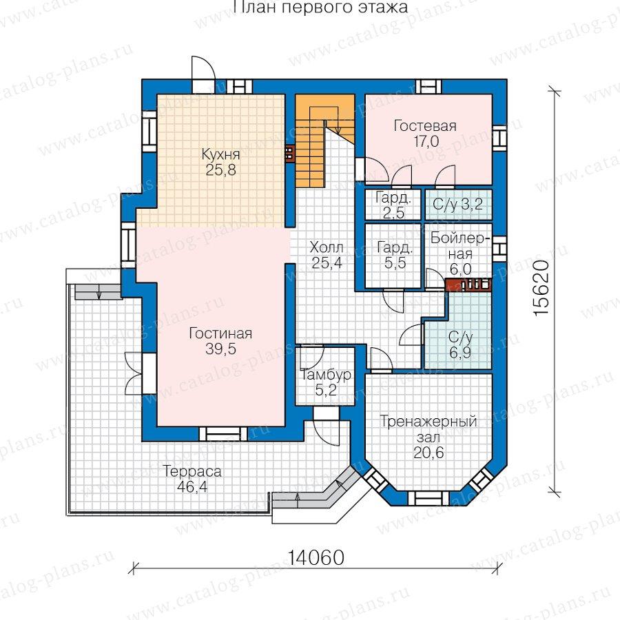 План 1-этажа проекта 48-31AL