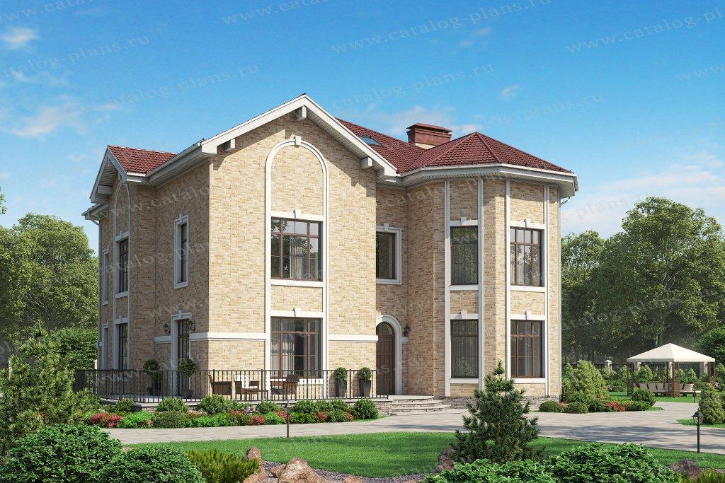 Проект жилой дом #48-31AL материал - кирпич, стиль