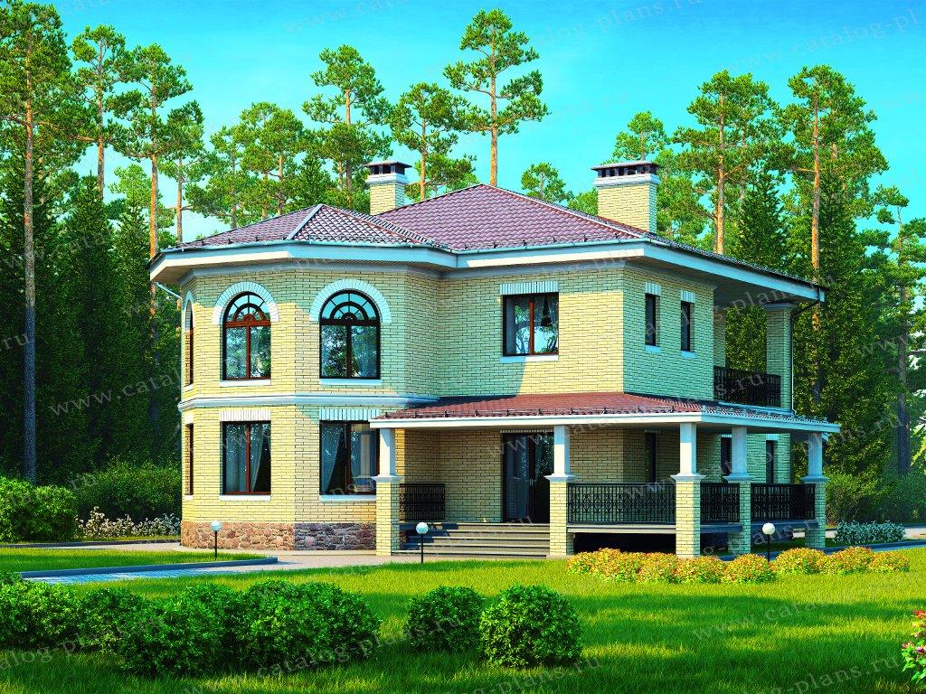 Проект жилой дом #40-13G материал - газобетон, стиль скандинавский