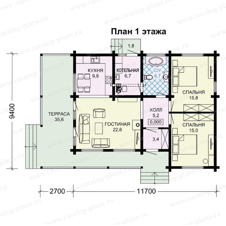 План 1-этажа проекта 13-89