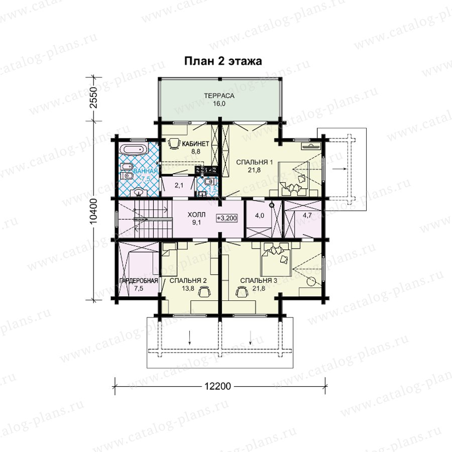 План 2-этажа проекта 13-90