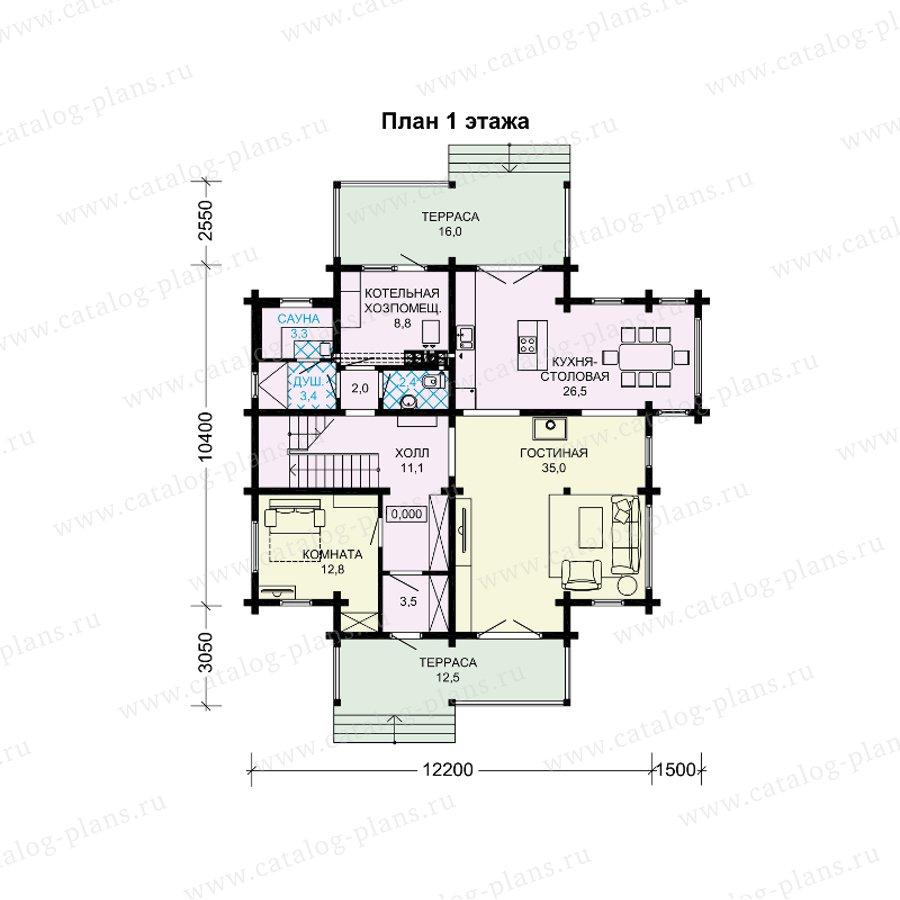 План 1-этажа проекта 13-90