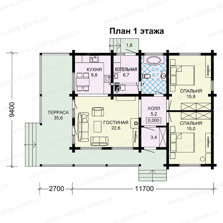 План 1-этажа проекта 13-89A
