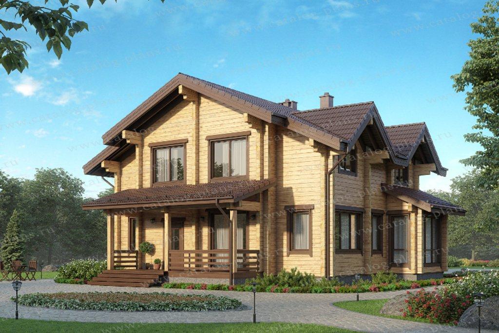 Проект жилой дом #13-90 материал - дерево, стиль