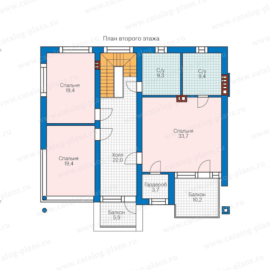 План 2-этажа проекта 62-33