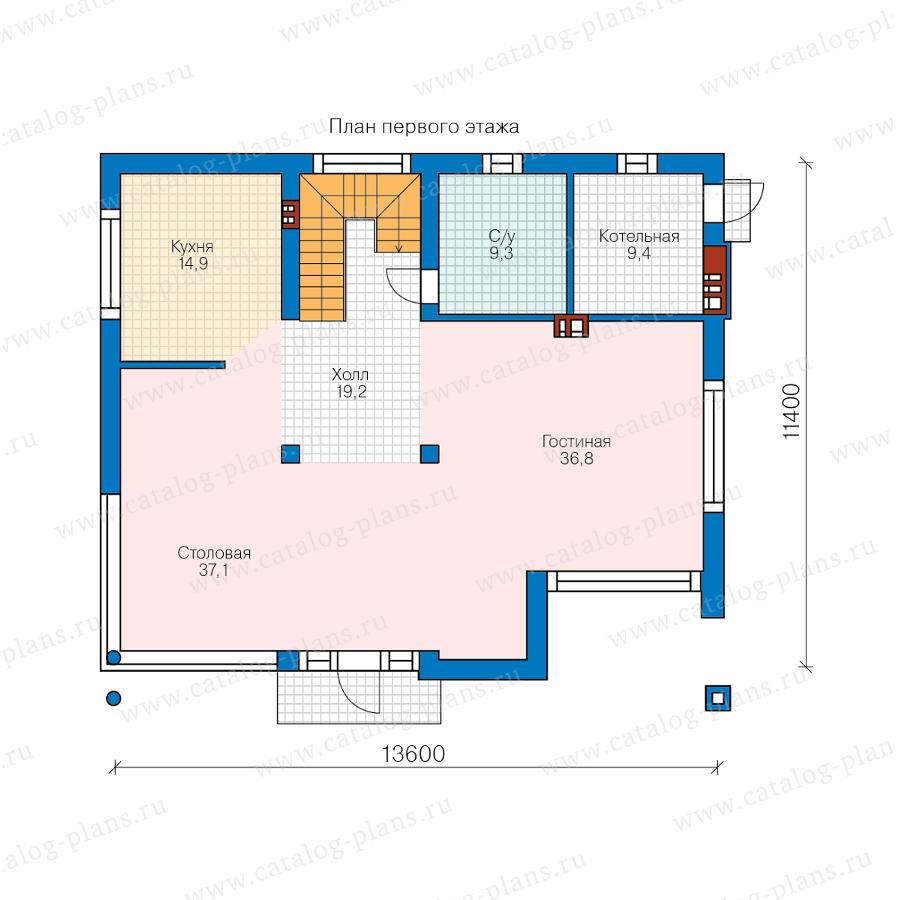 План 1-этажа проекта 62-33