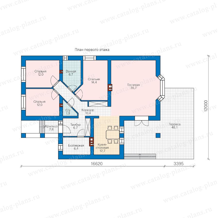 План 1-этажа проекта 45-33