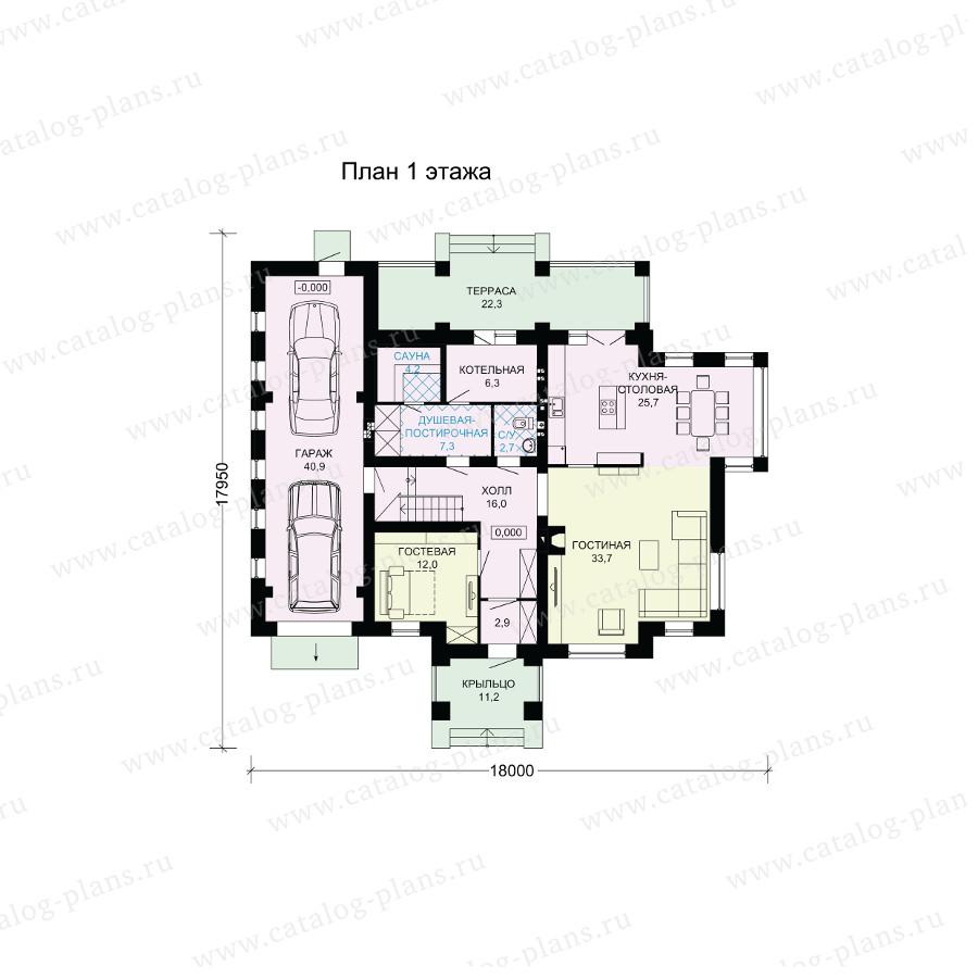 План 1-этажа проекта 60-14